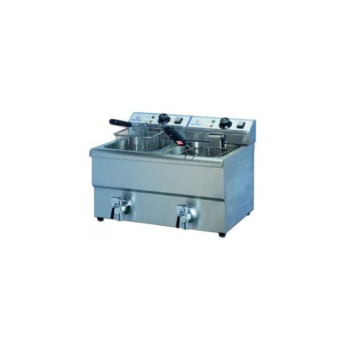 Friteuse electrique de table 2 bacs vidange 2x8l 2x3 - Table electrique osteopathie occasion ...