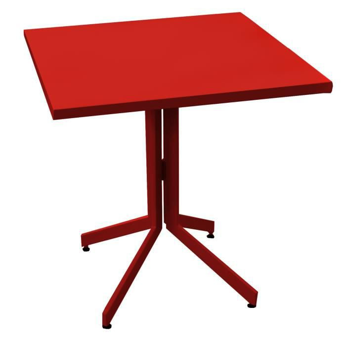 Table De Jardin 70cm Azuro Rouge Achat Vente Table De