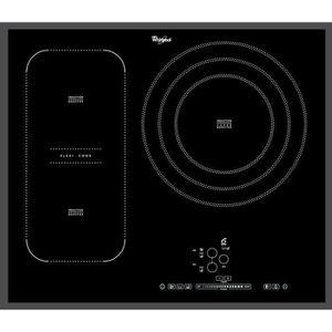 WHIRLPOOL ACM846BA - Table de cuisson ? Induction - 3 zones - 7400W - L65 x P51cm - Rev?tement verre - Noir