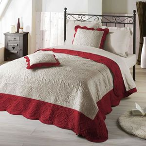 couvre lit 160 x 200 achat vente couvre lit 160 x 200 pas cher cdiscount. Black Bedroom Furniture Sets. Home Design Ideas