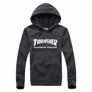 hoodies sweat a capuche marque thrasher skateb gris1. Black Bedroom Furniture Sets. Home Design Ideas