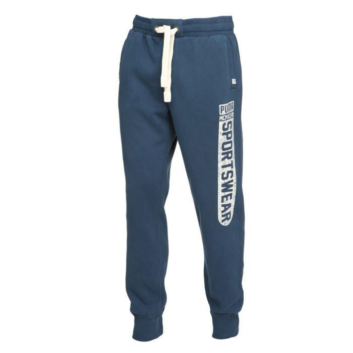 puma pantalon jogging homme bleu achat vente surv tement puma pantalon jogging homme. Black Bedroom Furniture Sets. Home Design Ideas