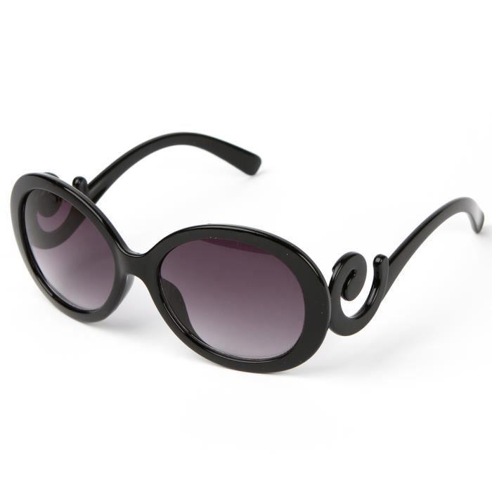 mode 1x uv400 lunette de soleil oversize cadre vague noir