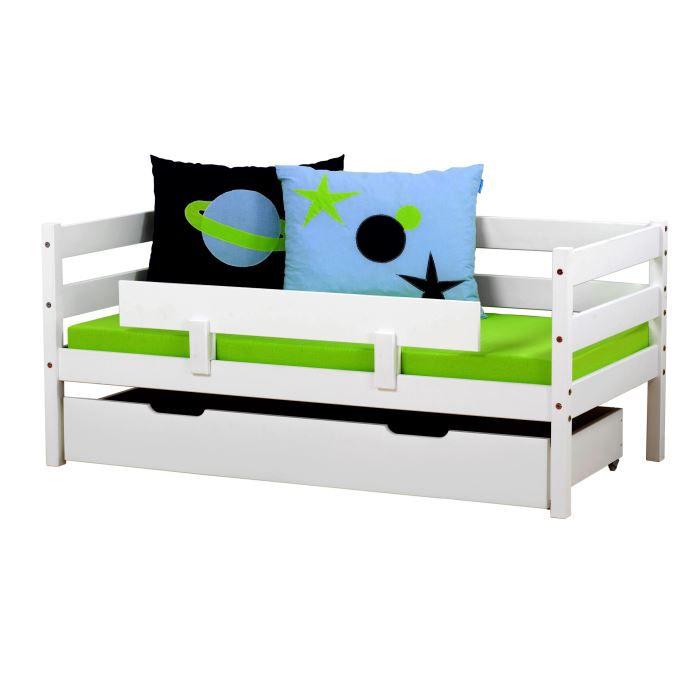lit enfant classique hop coloris blanc achat vente lit complet cdiscount. Black Bedroom Furniture Sets. Home Design Ideas