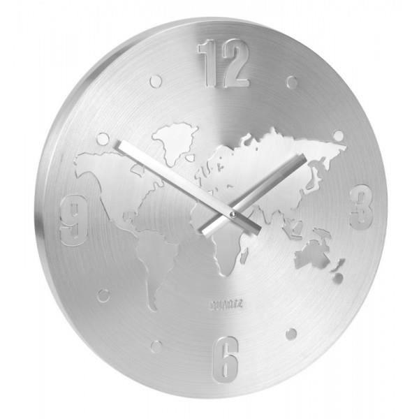 Horloge murale aluminium achat vente horloge cdiscount - Horloge murale led bleue ...