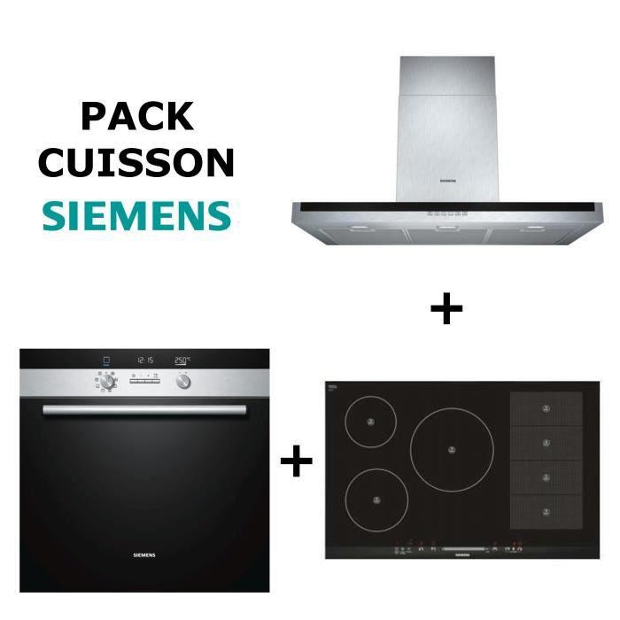 pack cuisson siemens four multifonction pyrolyse table de cuisson induction flex hotte. Black Bedroom Furniture Sets. Home Design Ideas