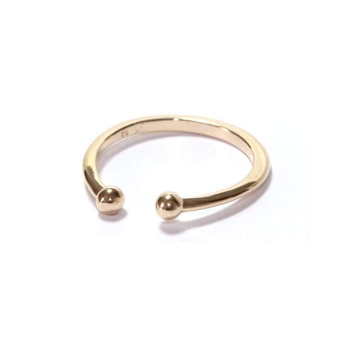 bague fine piercing or plaqu or jaune 14k 3 microns achat vente bague anneau femme adulte. Black Bedroom Furniture Sets. Home Design Ideas