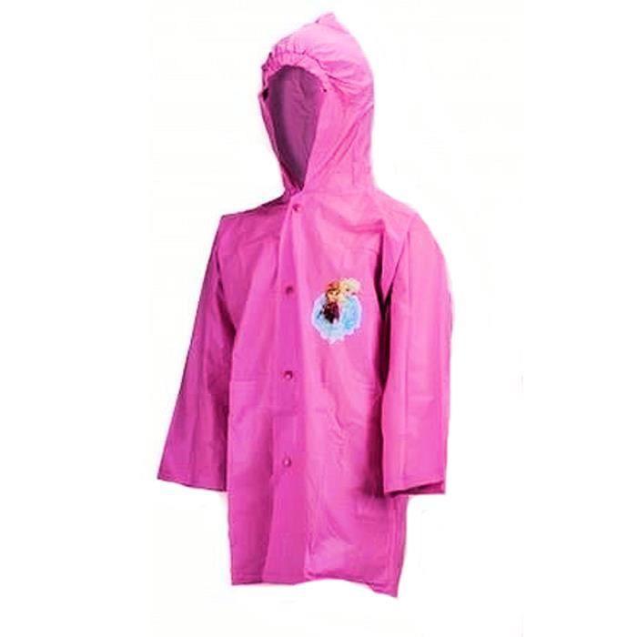 imperm able frozen reine des neiges veste manteau de pluie rose rose achat vente. Black Bedroom Furniture Sets. Home Design Ideas