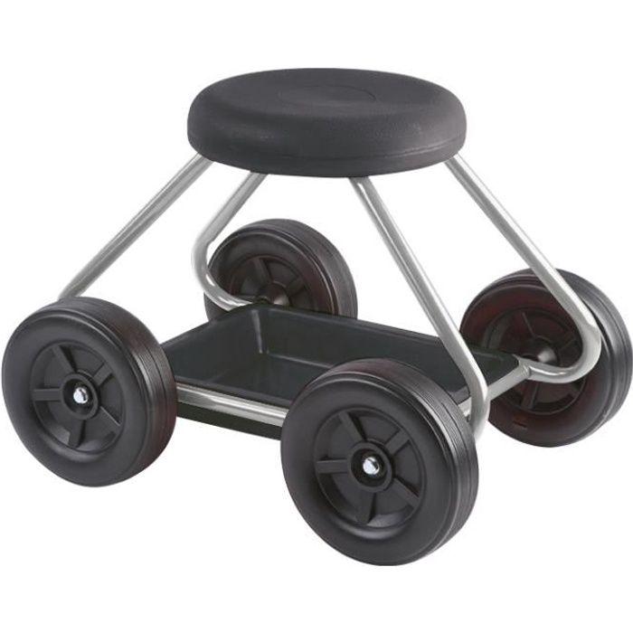 Tabouret de jardin sur roues avec bac de rangement bricolage et jardinage - Tabouret de jardinage ...