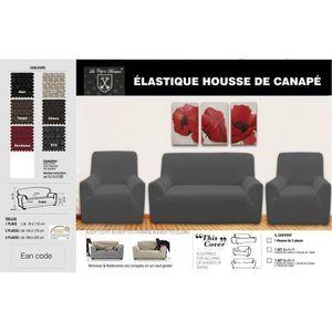HOUSSE DE FAUTEUIL Housse de Canapé Lycra  3+1+1 - Choco