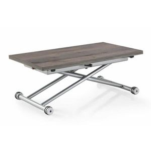 Table basse relevable chene achat vente table basse relevable chene pas cher cdiscount for Table basse relevable extensible pas cher