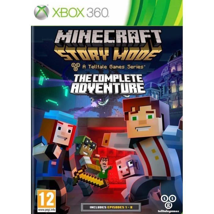 minecraft story mode complete edition jeu xbox 360 achat vente jeu xbox 360 nouveaut. Black Bedroom Furniture Sets. Home Design Ideas