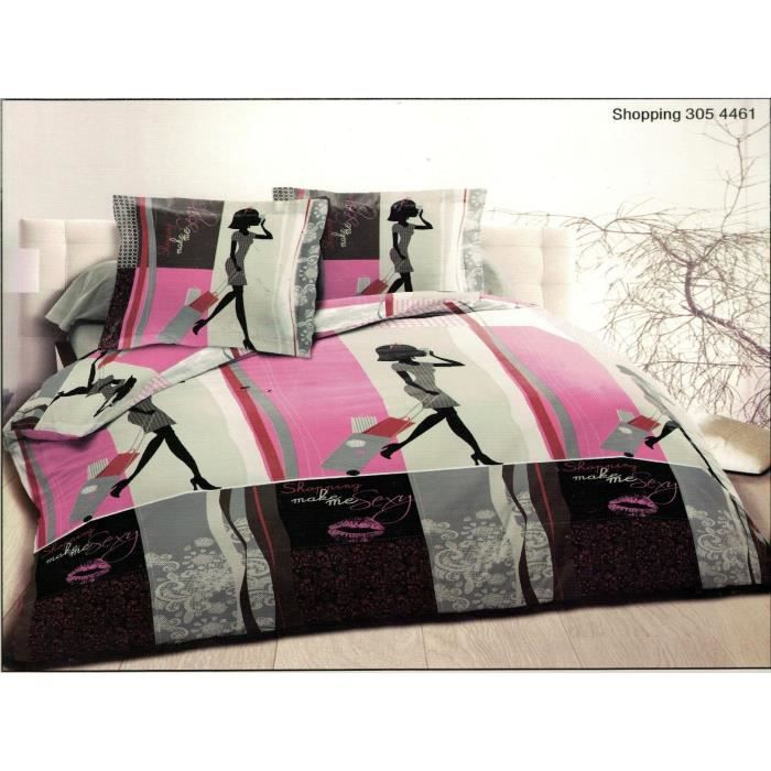 parure de draps 2 personnes 100 coton 160x200 achat vente parure de drap soldes d t. Black Bedroom Furniture Sets. Home Design Ideas
