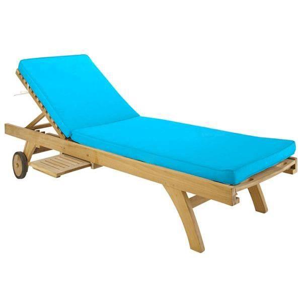 Bain de soleil 55x170 cm couleur turquoise sun out achat vente coussin d - Bain de soleil turquoise ...