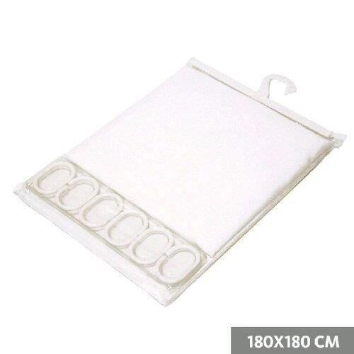 Rideau de douche 180x180 cm blanc achat vente rideau de douche polyester cdiscount - Rideau de douche 180x180 ...