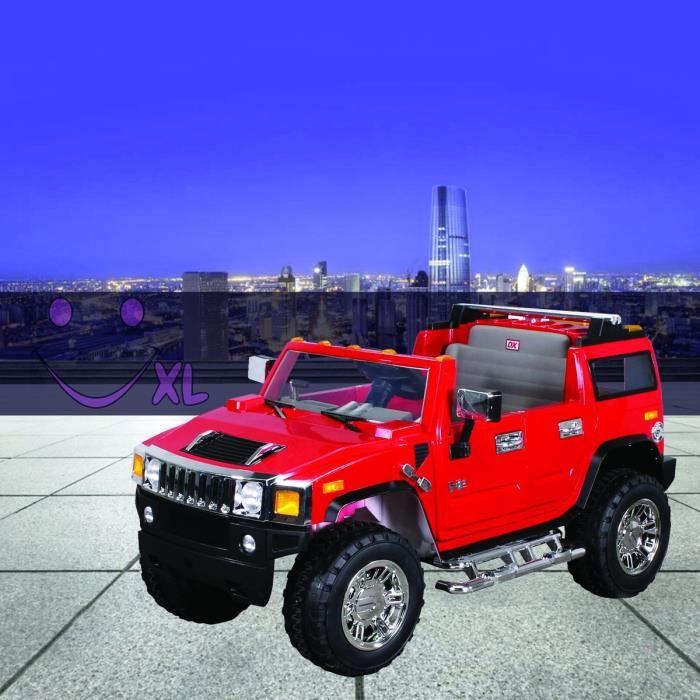 voiture lectrique hummer h2 pour enfants rouge achat vente voiture enfant soldes d t. Black Bedroom Furniture Sets. Home Design Ideas