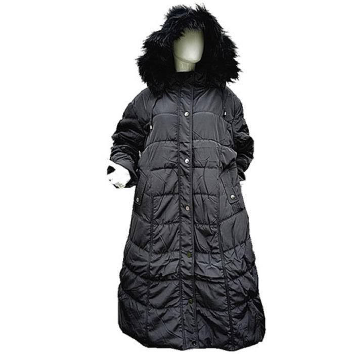 doudoune manteaux longue femme grande taille 46 48 50 52 54 56 58 capuche hiver c 1512 noir noir. Black Bedroom Furniture Sets. Home Design Ideas