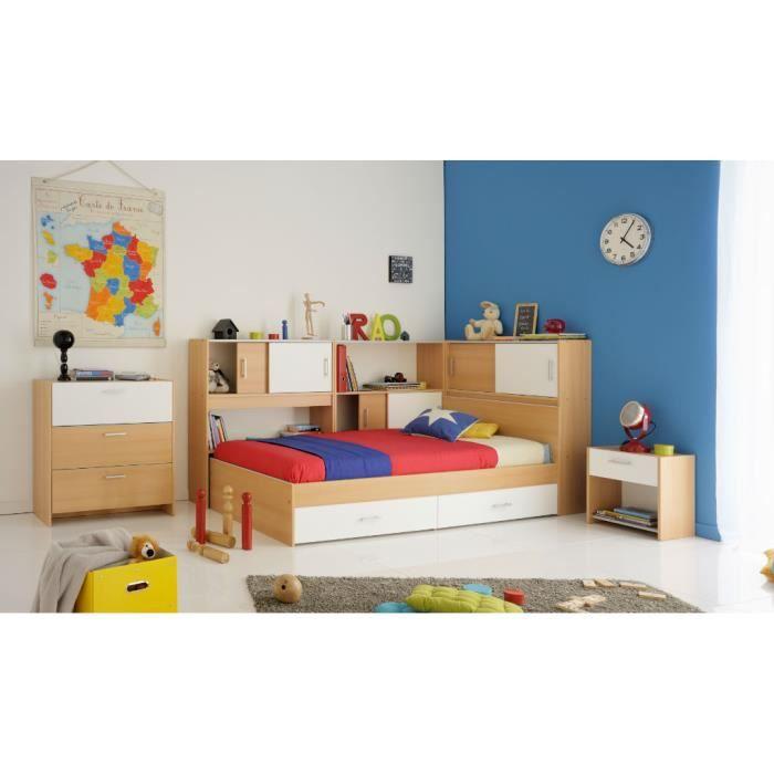lit enfant snoop avec rangements achat vente structure de lit cdiscount. Black Bedroom Furniture Sets. Home Design Ideas
