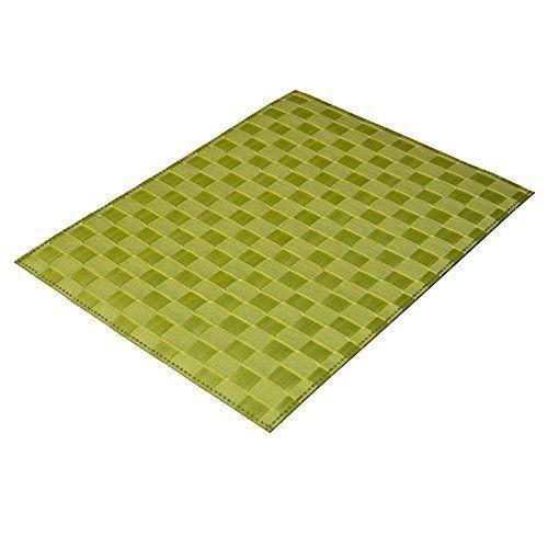 Saleen 2038592 set de table rectangulaire pistache 30 x 40 for Set de table rectangulaire