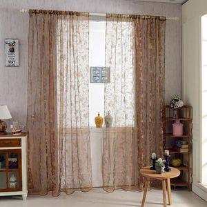 voilage porte fenetre achat vente voilage porte fenetre pas cher cdiscount. Black Bedroom Furniture Sets. Home Design Ideas