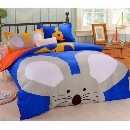 parure de lit 100 coton souris achat vente parure de. Black Bedroom Furniture Sets. Home Design Ideas