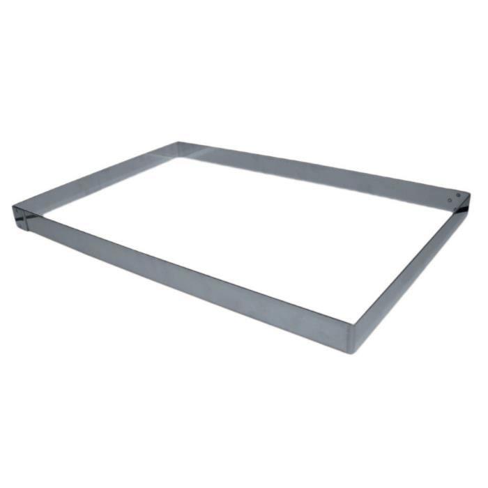 Cadre inox pour plaque 60x40cm longueur 57cm largeur 37cm hauteur 4cm inox cuisine autour for Plaque inox pour cuisine