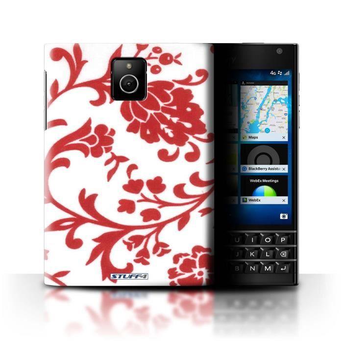 coque de stuff4 coque pour blackberry passport fleurs rouge design motif floral collection. Black Bedroom Furniture Sets. Home Design Ideas