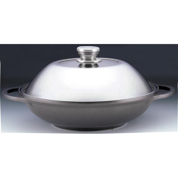 00465427 wok induction 32cm 6 4l cast line achat - Cuisiner avec l induction ...
