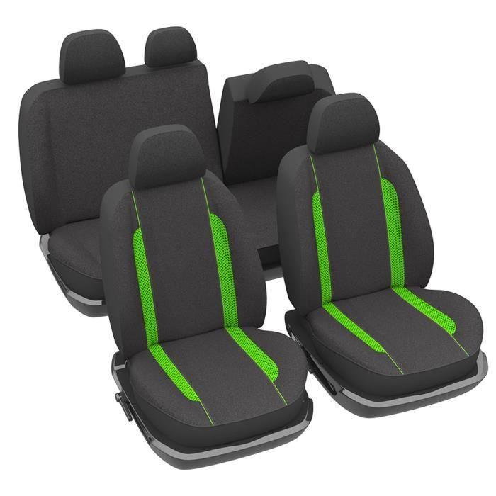 Housses de si ge fluo vert pour auto achat vente for Housse siege auto