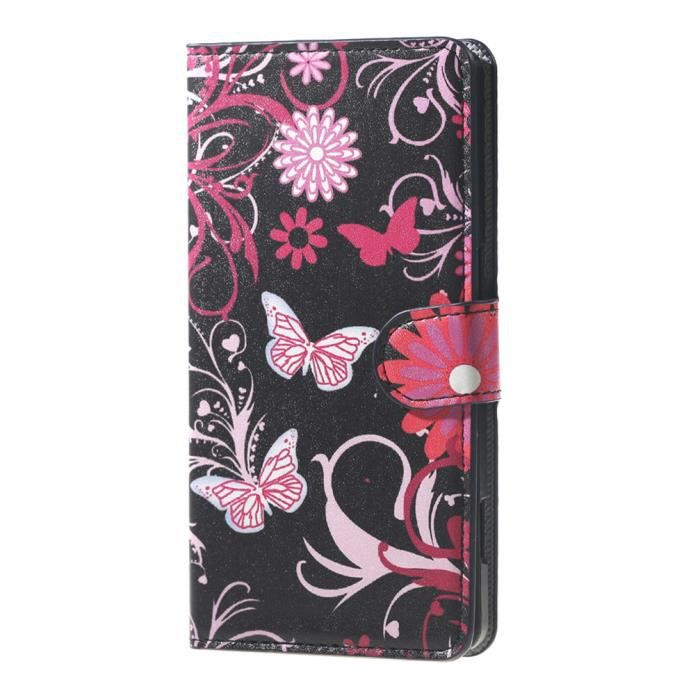Coque etui rabat housse pour wiko lenny 2 2nd for Coque portefeuille wiko lenny 2
