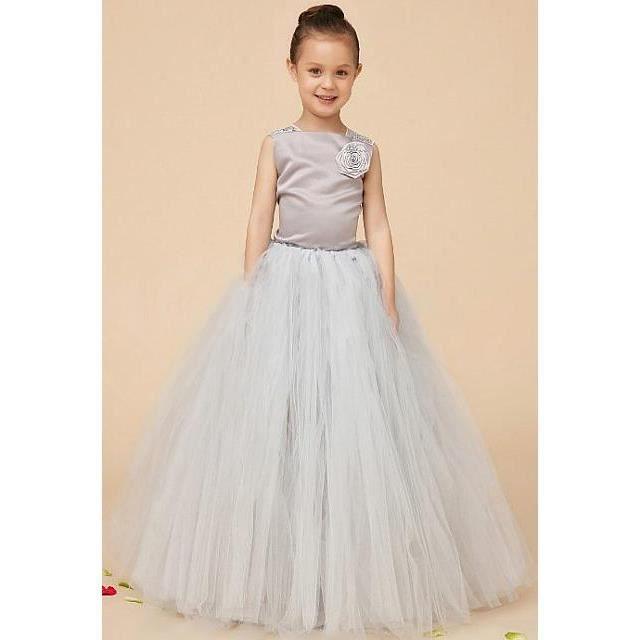 Robe de mariage pour enfant gris argent dy1006 gris gris for Robes de mariage en argent