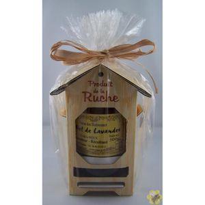 COFFRET GASTROMONIE Ruchette avec son Pot de Miel de Lavande 500g