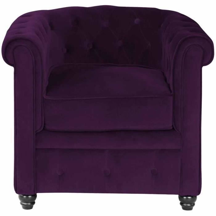 Fauteuil chesterfield velours aubergine achat vente fauteuil velours 100 - Fauteuil chesterfield velours ...