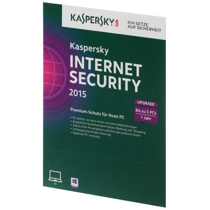 kaspersky internet security 2015 upgrade 5 pc achat. Black Bedroom Furniture Sets. Home Design Ideas