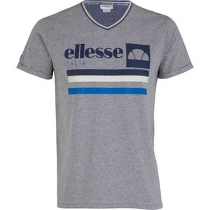 ELLESSE T-Shirt Homme Caly - Manches Courtes - Gris/Chine