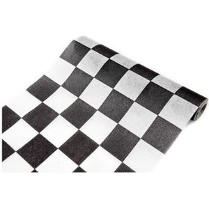 Chemin de table noir et blanc achat vente chemin de - Table damier pas cher ...