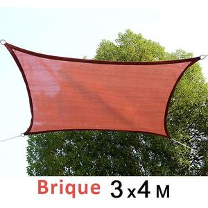 VOILE D'OMBRAGE Voile D'ombrage carré blanc rouge 00TE