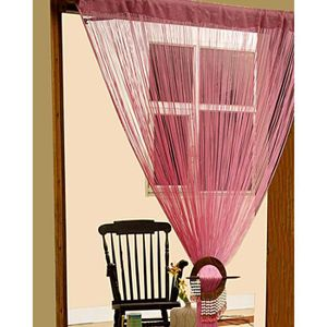 rideaux a fil rose achat vente rideaux a fil rose pas cher cdiscount. Black Bedroom Furniture Sets. Home Design Ideas