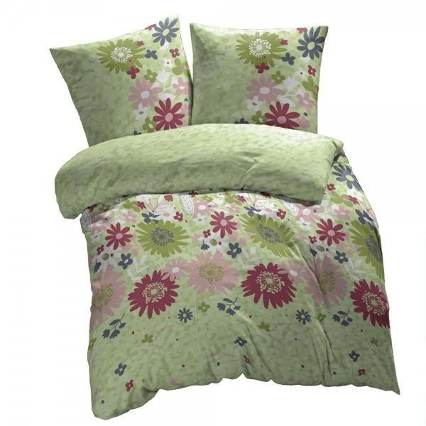 housse de couette fleurs vertes 220x240cm 2 taie achat vente housse de couette cdiscount. Black Bedroom Furniture Sets. Home Design Ideas