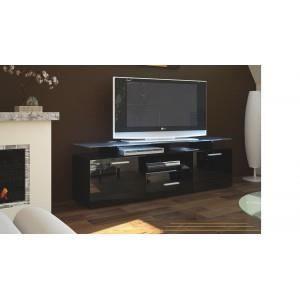 Meuble t l design salom noir oui oui non achat vente meuble tv me - Cdiscount meuble tele ...