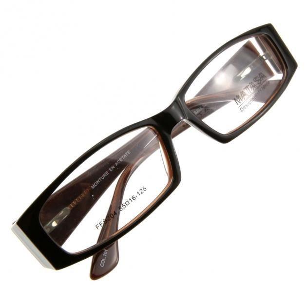 monture de lunettes de vue cercl e lffs204 noir marron achat vente lunettes de vue monture. Black Bedroom Furniture Sets. Home Design Ideas