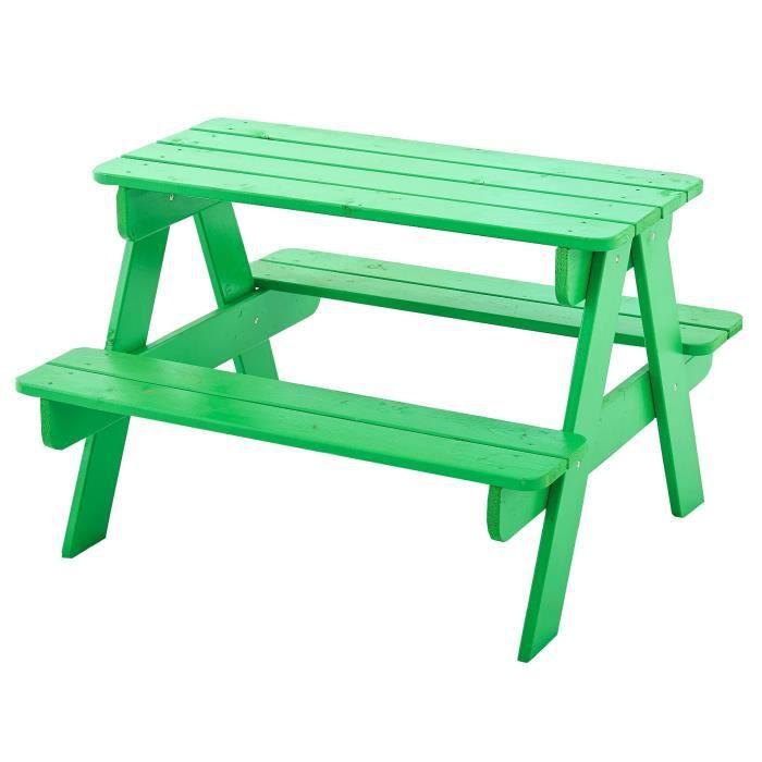 Table enfant picnic achat vente maison jeux ext rieur table enfant bois - Table exterieur enfant ...