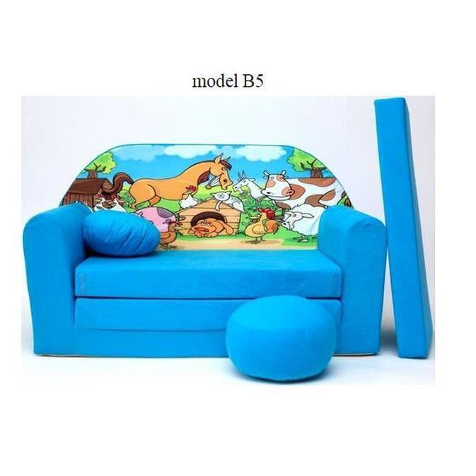 sofa enfant 2 places se transforme en un canap lit b5 achat vente fauteuil canap b b. Black Bedroom Furniture Sets. Home Design Ideas