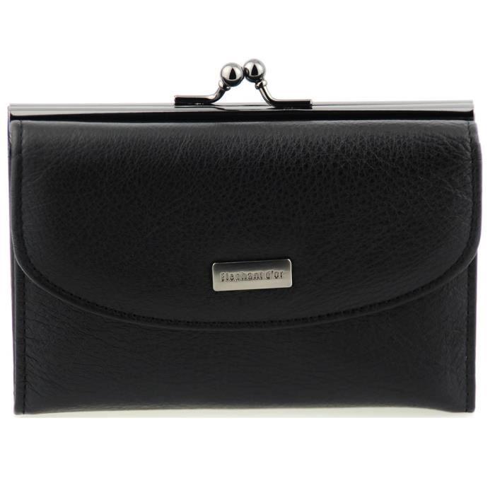 jolie portefeuille femme cuir noir tout en un n noir or achat vente tout en un. Black Bedroom Furniture Sets. Home Design Ideas