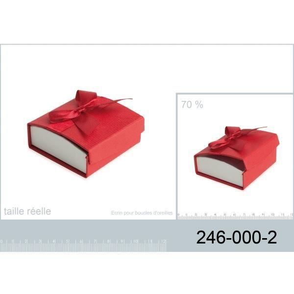Ecrin boite bijoux rouge pour boucles d 39 oreilles achat - Boite a bijoux boucle d oreille ...