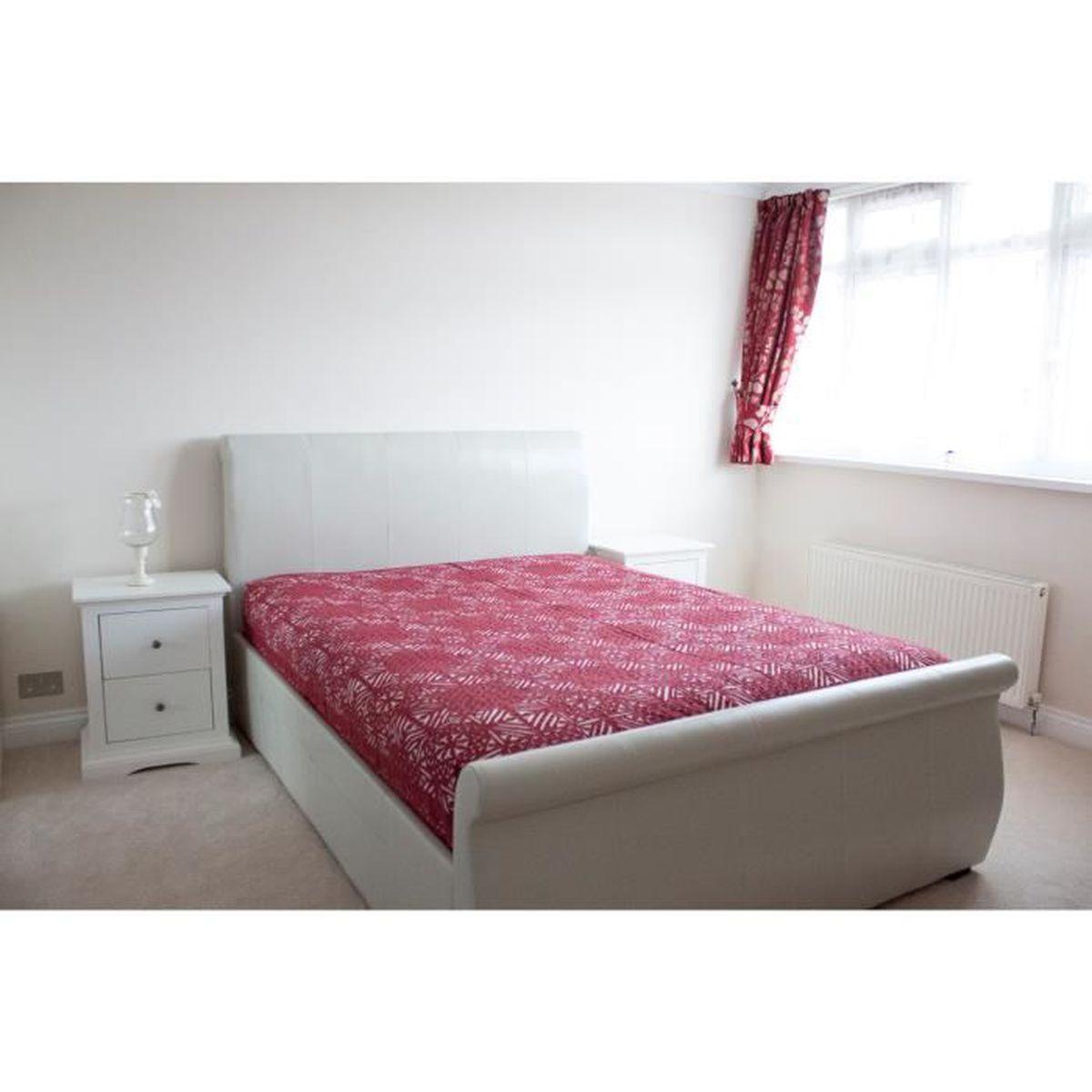 sveze maroon applique cotton drap de lit super king achat vente drap plat cdiscount. Black Bedroom Furniture Sets. Home Design Ideas