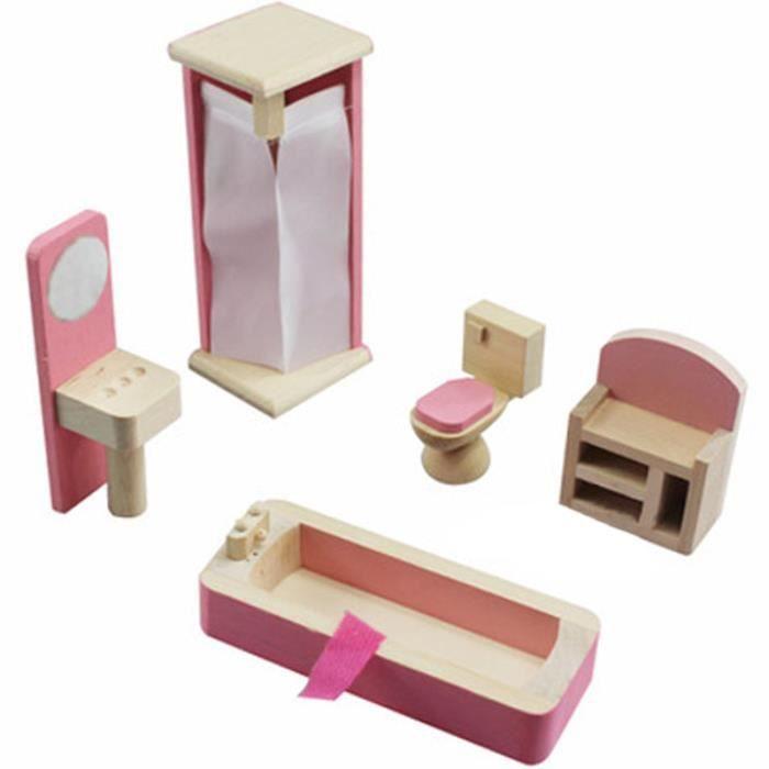Bois miniature dollhouse meubles jouets set chambre - Meuble rangement jouet fille ...