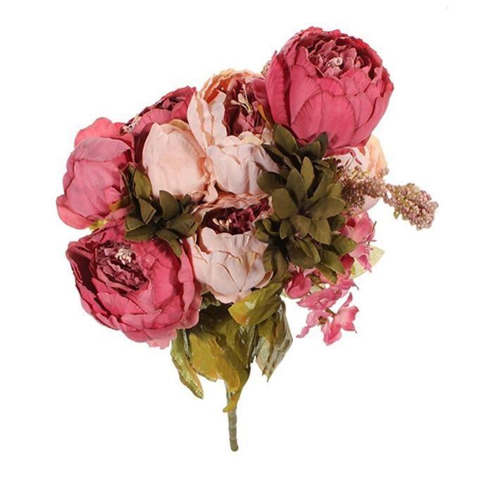 Bouquet de fleurs artificielles 8 heads d coratif pivoine for Vente fleurs artificielles