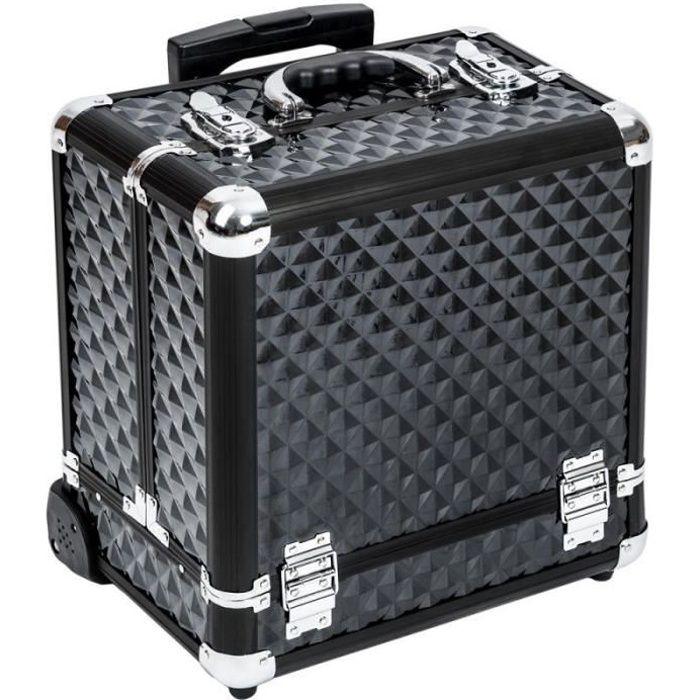 Malette trolley valise esthétique coiffure maquillage pro noir 2008056 - Achat / Vente valise ...