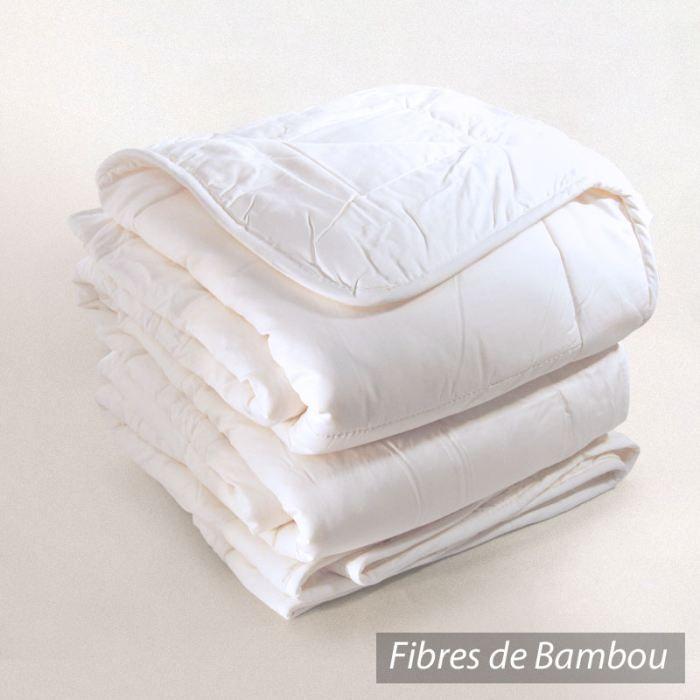 couette 140x200cm bamboo fibre de bambou 400 g m2 achat vente couette cdiscount. Black Bedroom Furniture Sets. Home Design Ideas